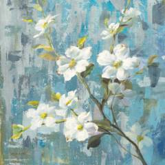Цветы на голубом фоне 2