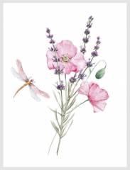 Стрекоза с цветком